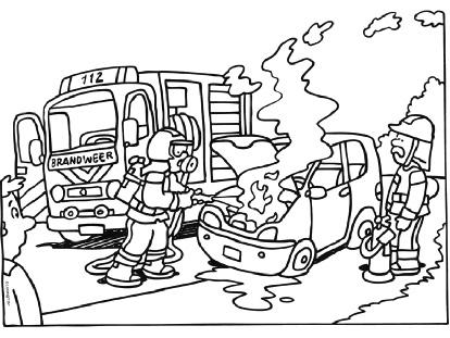 Dibujos de bomberos apagando fuego  Imagui
