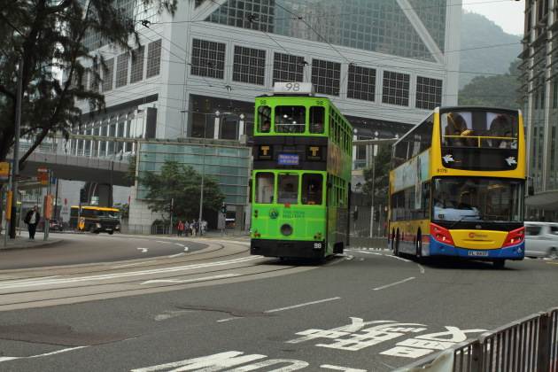 Tram and Double Decker Buses of Hong Kong