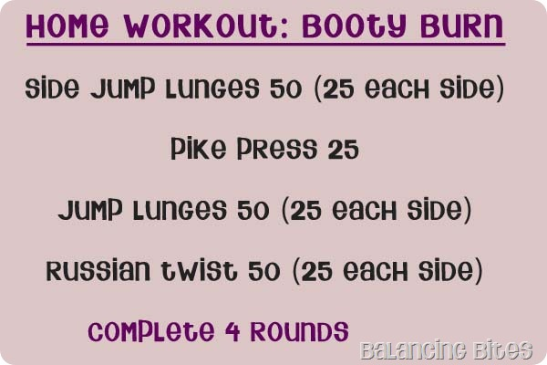 Home Workout Booty Burn
