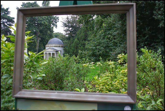 Ionic Temple through a frame, Chiswick Gardens