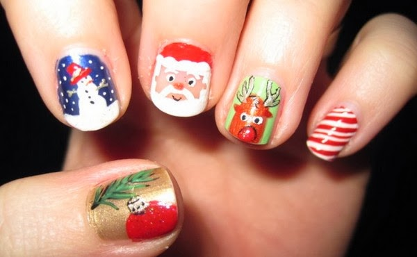 Christmas Nail Designs Short Nails Nail Designs Hair Styles