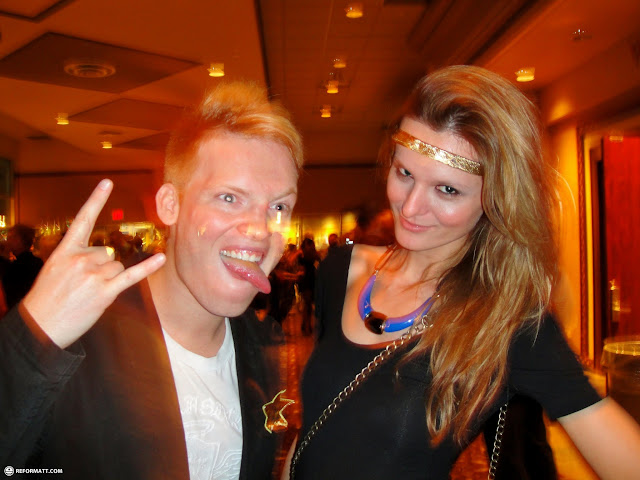 rocking out with Beata during new years in blue mountain in Collingwood, Ontario, Canada