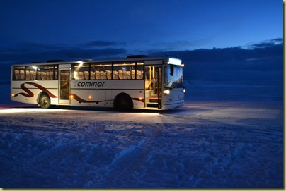 Bus back in the snow