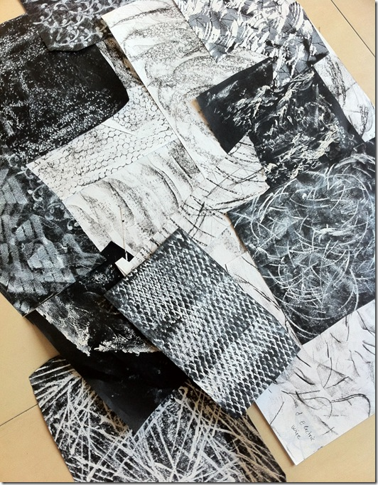 Flat papers - rubbings