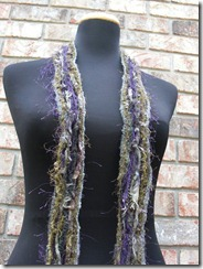 purple green gray grey scarf