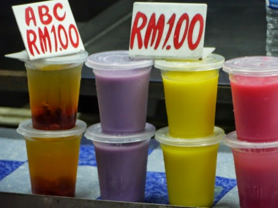 Drinks - not too sure about the colour Sibu Night Market