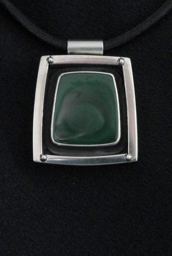 Malachite Shadow Box Pendant.....Sold