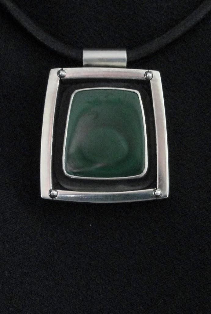 Malachite Shadow Box Pendant.....Sold