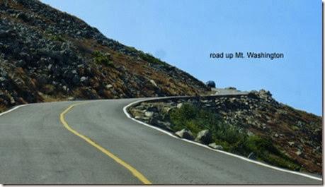 road up Mt. Washington