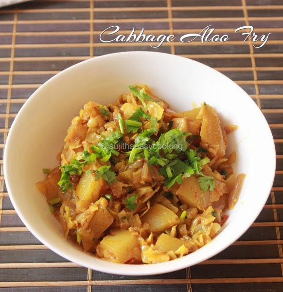 Cabbage Aloo Fry
