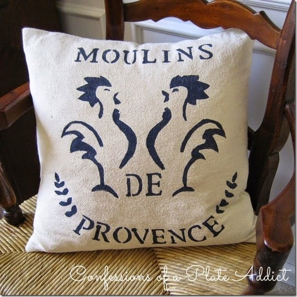 CONFESSIONS OF A PLATE ADDICT French Grain Sack Pillow
