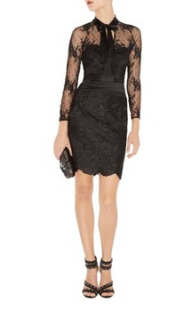 Karen Millen Long Sleeve Lace Dress