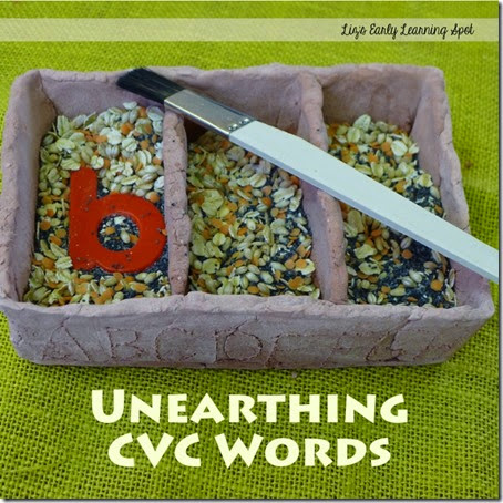 What a FUN hands on activity for practicing  CVC words for preschool, kindergarten, and 1st grade kids