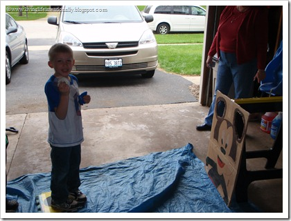 DIY MIckey bean bag toss