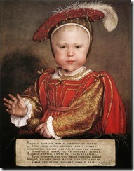 Retrato de Eduardo VI príncipe de Gales