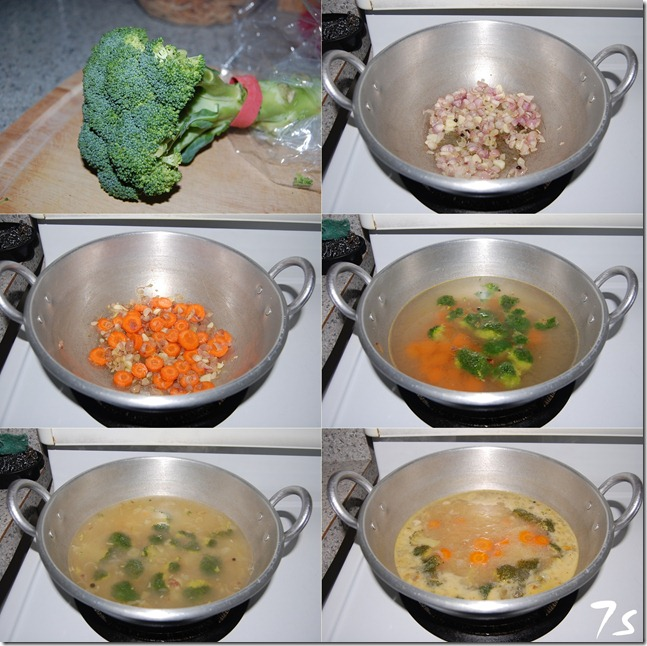 Broccoli soup process