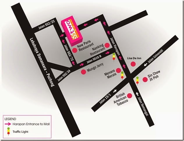 SStwo Mall location map