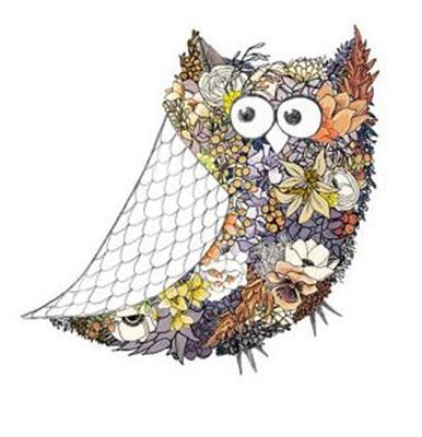 owl flowers 8x10