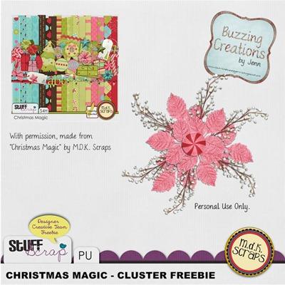 MDK Scraps - Christmas Magic - Cluster Freebie Preview