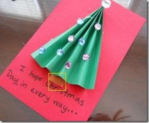 Manualidades tarjeta de navidad con rbol - Tarjeta de navidad para ninos manualidades ...