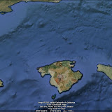 Las Islas Baleares desde Google