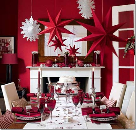 festive-christmas-table-decorations ideal home magazine