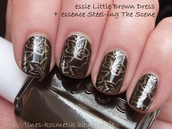 essie Little Brown Dress Stamping 4