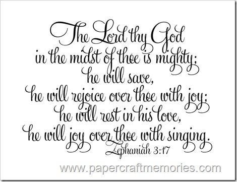 Zephaniah 3:17 WORDart by Karen