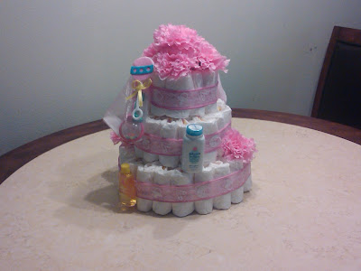 girl diaper cake in pink | Cordier Events Antrelle Blogs