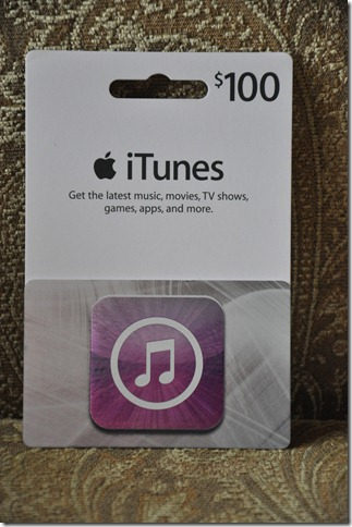 iTunes card