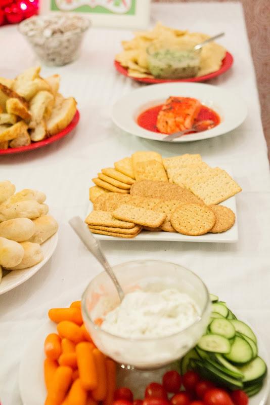 Christmas Buffet Table, recipes