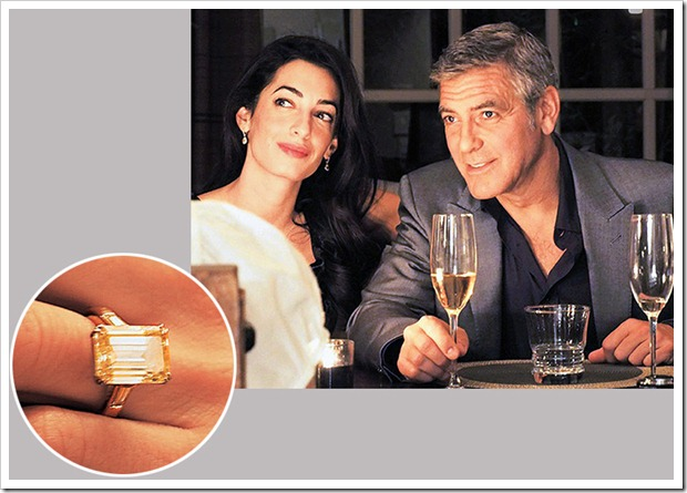 George Clooney give his fiancé Amal Alamuddin 7 Carat Ring