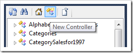 New Controller button on Project Explorer toolbar.