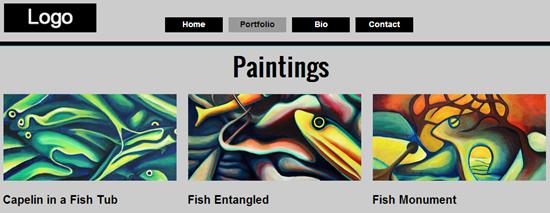 portfolio paintings