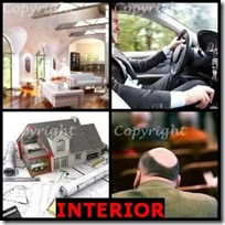 INTERIOR- 4 Pics 1 Word Answers 3 Letters