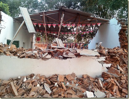 Church demolished Jagdalpur