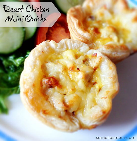 Roast Chicken Mini Quiche