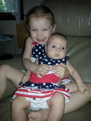 4th of July 2013 Bella and Sammi