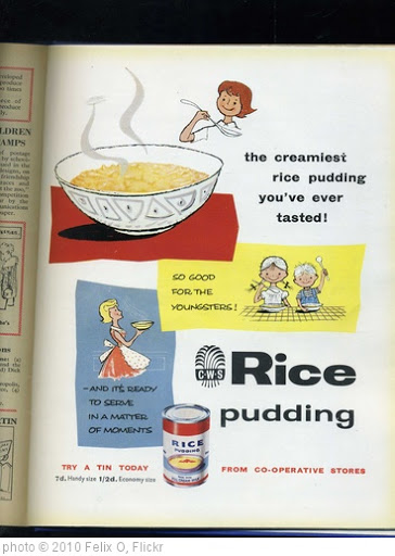 'CWS Advertising. Rice Pudding. 1960' photo (c) 2010, Felix O - license: http://creativecommons.org/licenses/by-sa/2.0/