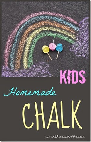 Make Your Own Chalk from 123 Homeschool 4 Me