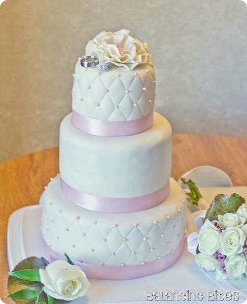 Quilted Fondant Wedding Cake