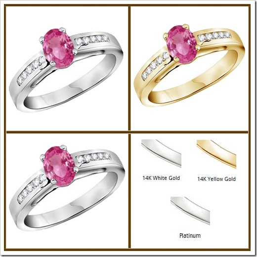 Metal Type Oval Pink Sapphire Ring