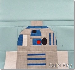 Paper pieced LEGO R2D2