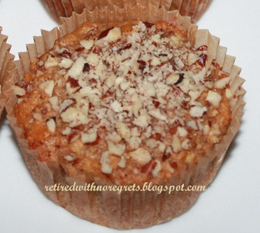 Banana Cereal Muffins - close up B