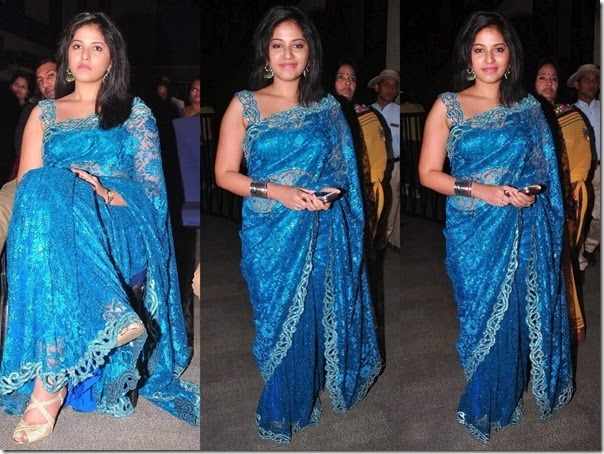 Anjali_Blue_Net_Fancy_Saree