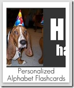 personalized alphabet flashcards