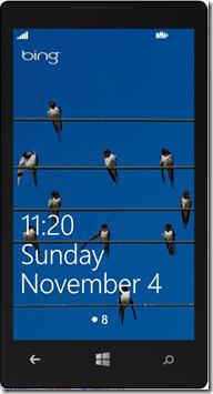 Windows Phone 8 Lock Screen Notification