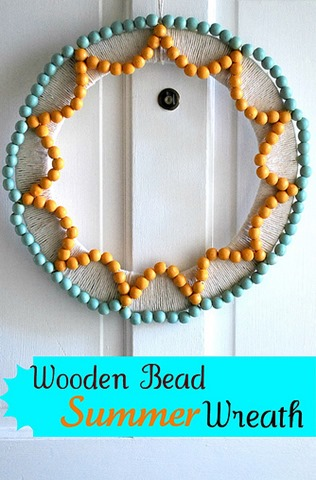 Wood Bead Summer Wreath - The Silly Pearl