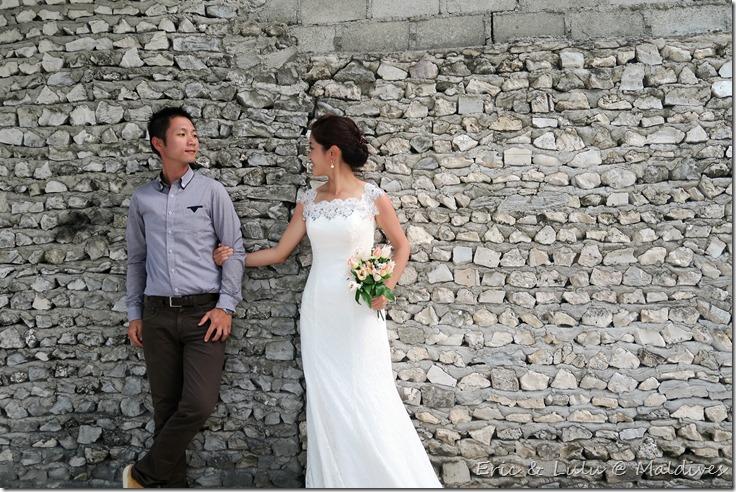 馬爾地夫腳架婚紗 (8)