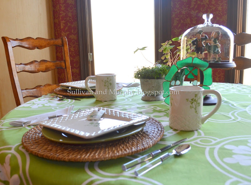 st. paddy's day table setting